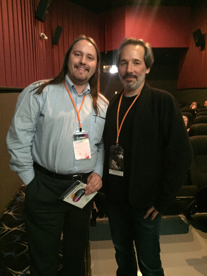 Filmizon's Nikolai Adams with Audition writer/director Matt Herron